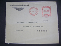 Cover Bruxelles Brussel 1958 - Meter Stamp - Company Jules Philippson, Jean Degroff & Cie. - To Vienne, Austria - Belgium