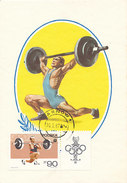 D31615 CARTE MAXIMUM CARD 1967 POLAND - WEIGHTLIFTING OLYMPICS CP ORIGINAL - Weightlifting