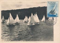 D31617 CARTE MAXIMUM CARD 1955 SAN MARINO - SAILING BOATS CP ORIGINAL - Sailing