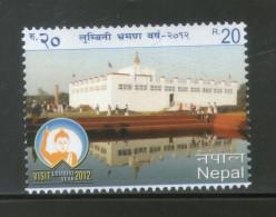Nepal 2012 Tourism - Visit Lumbini Year Budhha Religion Buddhism 1v MNH # 3470 - Buddhism