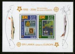 Sri Lanka 2006 Europa Stamp On Stamp Flag Map Ship Sc 1539-40 M/s MNH # 13266 - Stamps