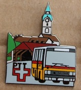 CAR POSTAL SUISSE - BUS JAUNE - SWISS POST  - PTT - CHATEAU - CASTEL - SCHLOSS - CLOCHER BLEU  -   (15) - Trasporti