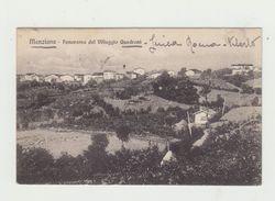MANZIANA - PANORAMA DEL VILLAGGIO QUADRONI - CARTOLINA VIAGGIATA 1916 - ITALY POSTCARD - Roma