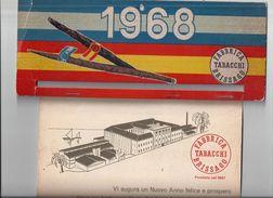Calendrier 1968 FABBRICA TABACCHI BRISSAGO -vintage - Calendriers