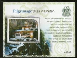 Bhutan 2017 Buddhism Pilgrimage Sites Tourism Architecture Lake M/s MNH # 12945 - Buddhism