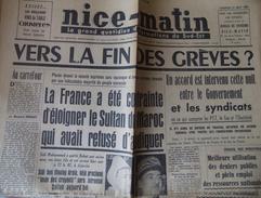 Quotidien Nice Matin - Édition Du Var - N° 2733 - Vendredi 21 Août 1953 - 1950 - Oggi