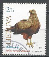 Lithuania 2000. Scott #670 (U) Bird Of Prey, Milvus Migrans, Oiseau De Proie - Lituanie