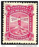 NEW ZEALAND RED 6 PENCE LIGHTHOUSE LIFE INSURANCE OUT OF SET OF ? MINTH 1950's SG? READ DESCRIPTION !! - Nouvelle-Zélande