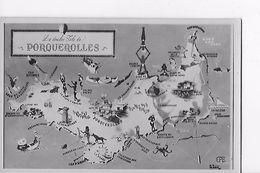 83 / CARTE ILE DE PORQUEROLLES - Porquerolles