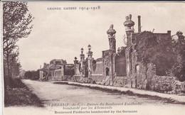 62----ARRAS--grande Guerre 1914-1918--ruines Du Boulevard Faidherbe Bombardée Par Les Allemants--voir 2 Scans - Arras