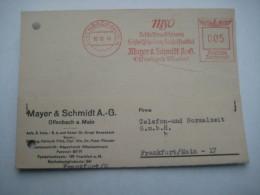 Firmen Freistempel , Meterstempel Auf Beleg Aus   Offenbach  1940 - Deutschland