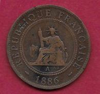 Indochine - 1 Centime - 1886 A - Münzen