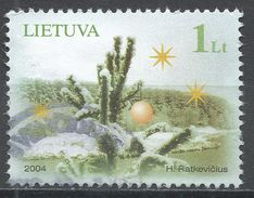 Lithuania 2004. Scott #780 (U) Christmas, Noël, Tree - Lituanie