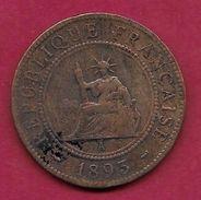 Indochine - 1 Centime - 1893 A - Monnaies