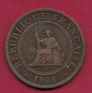 Indochine - 1 Centime - 1888 A - Monnaies