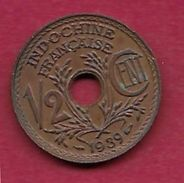 Indochine - 1/2 Centime - 1939 - SUP - Monnaies