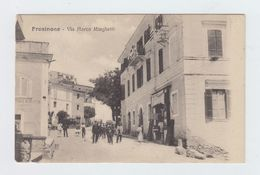 FROSINONE - VIA MARCO MINGHETTI - VIAGGIATA 1916 - ANIMATA - ITALY POSTCARD - Frosinone