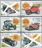 Benin 1997 Antique Cars Mortor Transport Ford Stanley VINTAG Car Stamps Used Sc 987-992 Mi 950-955  (2 Missing) - Benin - Dahomey (1960-...)