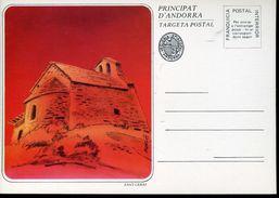 25691 Andorra Spain, Stationery Card  Showing The Church Of  Sant  Cerni - Briefe U. Dokumente