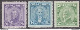 1969.5 CUBA 1969. MNH. PATRIOTAS. JOSE MARTI. MAXIMO GOMEZ. JOSE ANTONIO SACO. - Nuevos