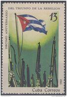 1969.39 CUBA 1969. MNH 10 ANIV DEL TRIUNFO DE LA REVOLUCION. BANDERA FLAG . - Nuevos