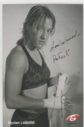 BOXE - BOXING - Myriam LAMARE , Autographe ;  Authentique Et Manuscrit  -  105x150 - Boxsport