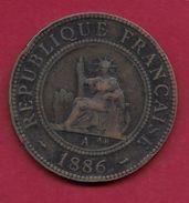 Indochine - 1 Centime - 1886 A - Monnaies