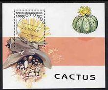 Benin 1997 Flora Flowers Plants Cactusses Cactus Cacti Nature Flower Plant S/S Stamp CTO SG MS 1665 Mi BL32 Sc 1007 - Benin - Dahomey (1960-...)