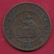 Indochine - 1 Centime - 1887 A - Monnaies