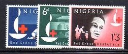T249 - NIGERIA 1963 , Serie Yvert N. 143/145  ***  MNH  Croce Rossa - Nigeria (1961-...)