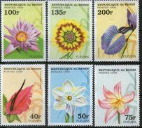 Benin 1995 Flowers Flower Plants Nature Orchids Orchid Flora Gift For Children Iris Stamps MNH SC 768-773 Michel 697-702 - Benin - Dahomey (1960-...)