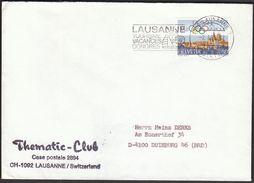 Switzerland Lausanne 1985 / Tourism Congresse / Sailing / Machine Stamp / Olympic Town - Holidays & Tourism