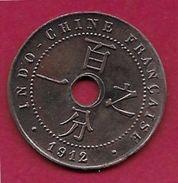 Indochine - 1 Centime - 1912 - Monnaies