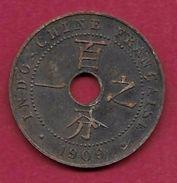 Indochine - 1 Centime - 1909 - Münzen