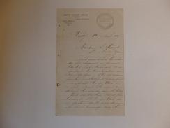 Lettre De La Brasserie Gambrinus E. Moret Rue De Nîmes à Vichy (Allier). Signée Par E. Moret. - France