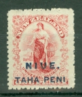 Niue: 1902   Universal Postage 'Niue' OVPT   SG4    1d   [Perf: 14]   MH - Niue