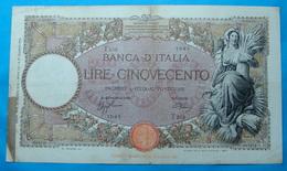 ITALIA 500 LIRE 23/3/1942 - 500 Lire