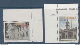 1997 Guatemala Architecture Buildings Complete  Set Of  2 MNH - Guatemala