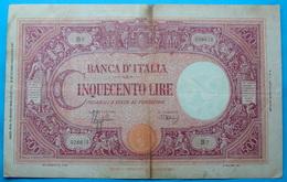 ITALIA 1000 LIRE 31/3/1943 - 500 Lire