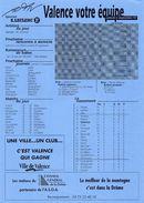 VALENCE / AS Saint Etienne  Championnat De France Division 2  6 Septembre 1997 - Habillement, Souvenirs & Autres