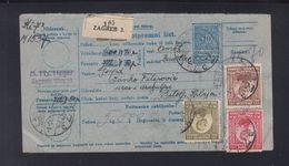 Yugoslavia Croatia Money Order Zagreb 1921 - Croatia