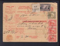 Yugoslavia Parcel Card 1923 - 1919-1929 Königreich Der Serben, Kroaten & Slowenen