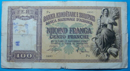 ALBANIA - ITALIA 100 FRANGA ND 1939 - Albanie