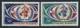 Benin Dahomey 1968 20th Anniv WHO Medical Welfare World Health Organizations Medicine Stamps MNH SC 250-251 Mi 342-343 - Benin - Dahomey (1960-...)