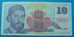 YUGOSLAVIA 10 NOVIH DINARA 1994 - Joegoslavië