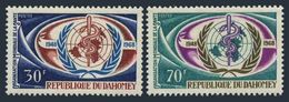 Benin Dahomey 1968 20th Anniv WHO Medical Welfare World Health Organizations Medicine Stamps MNH SC 250-251 Mi 342-343 - WHO