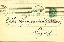 Norway Lettercard Brevkort Kristania 12-2-1907 Sent To Trysil - Norwegen