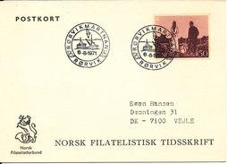 Norway Postcard Rörvikmartnan Rörvik 6-8-1971 Sent To Denmark (4 Hinged Marks On The Backside Of The Card) - Norway