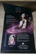 PUBLICITE / CARTE PARFUMÉE DU PARFUM ANGEL MUSE DE MUGLER / VIDE = UTILISÉ - Perfume Cards