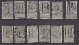 België/Belgique  Preo  Handrol/roulette Samenstelling/composition 12 Zegels/timbres. Tussen/entre N° 48A - 280A. - Préoblitérés